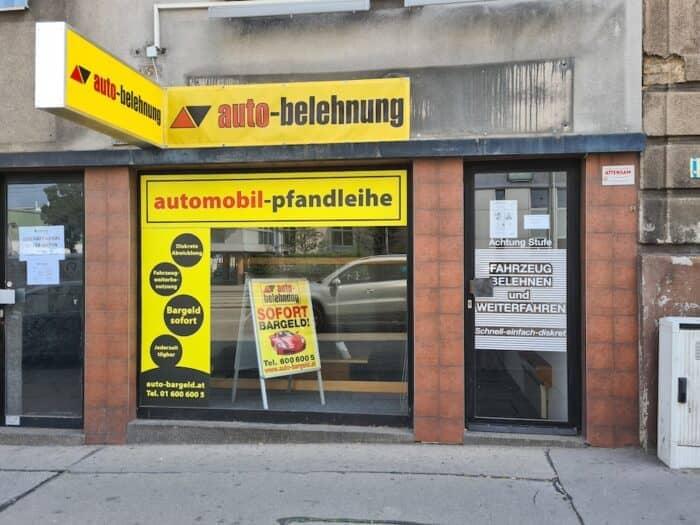 Auto Belehnung in der Laxenburger Straße in Wien